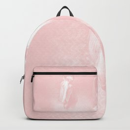 Horse emerging from the baby pink mist Backpack