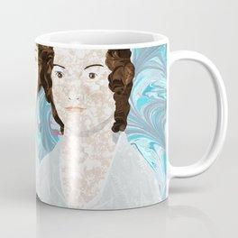 Bronte Sisters in Marbled Bookbinding Paper Coffee Mug