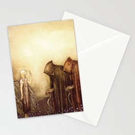 """The Golden Key"" John Bauer Watercolor Stationery Cards"