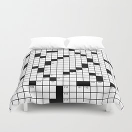 Crossword Puzzle - Write on it!  Duvet Cover