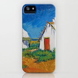 Three White Cottages In Saintes Maries By Vincent van Gogh iPhone Case