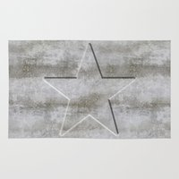 solid Area & Throw Rugs featuring Solid Star by LebensART