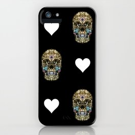 Say It with Skull and Hearts iPhone Case