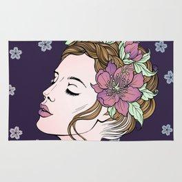 Flower Crown Girl Rug