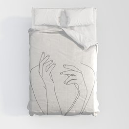 Woman's body line drawing illustration - Dee Comforters