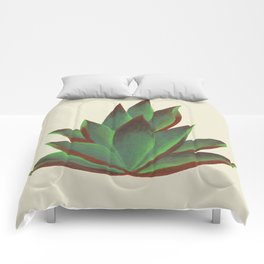 Red and Green Aloe Vera Plant Comforters