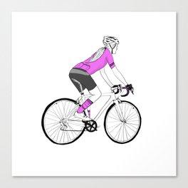 Girl Cyclist Canvas Print