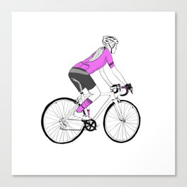 Girl Cyclist Canvas Print