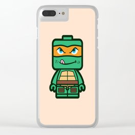Chibi Michelangelo Ninja Turtle Clear iPhone Case