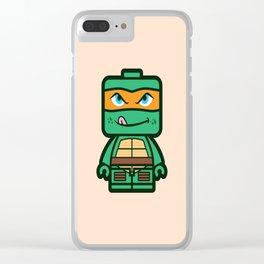 Chibi Michelangelo Ninja Turtle Clear iPhone Case