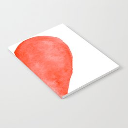 Red Watercolor Heart Notebook