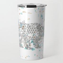 Geometric Bear Travel Mug