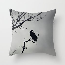 Young Bald Eagle Silhouette Throw Pillow