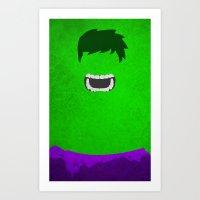 hulk Art Prints featuring Hulk by theLinC