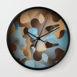 Camo 01 Wall Clock