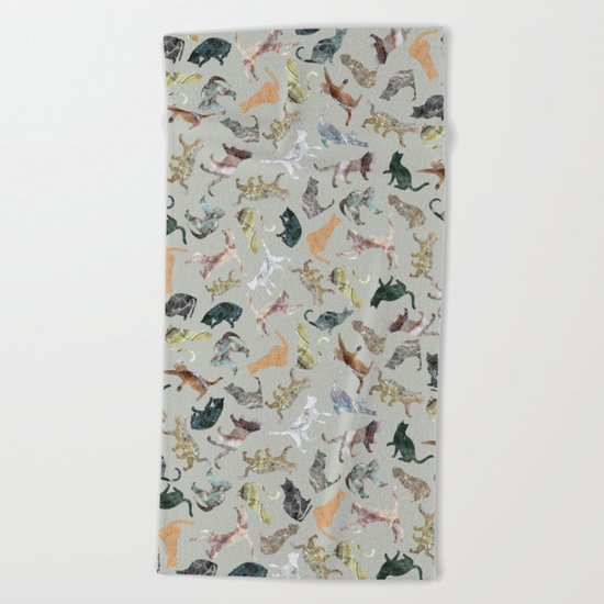 Marble Cats Beach Towel