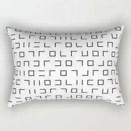 Code Breaker - Abstract, black and white, minimalist artwork Rectangular Pillow