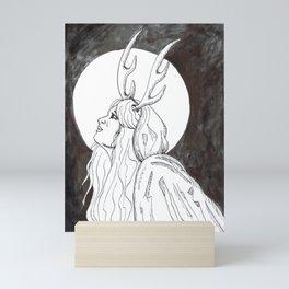 Antler Girl Mini Art Print
