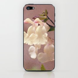 White flower and texture iPhone Skin