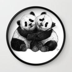 Panda's Hugs G143 Wall Clock
