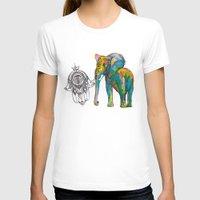 boho T-shirts featuring BOHO ELEPHANT by Nizhoni Creative Studio