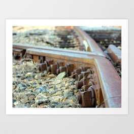 Perfectly Bolted Art Print
