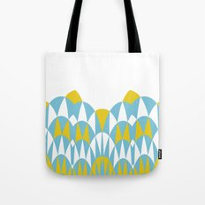 Modern Day Arches Blue and Yellow Tote Bag