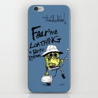 fear and loathing iPhone & iPod Skins featuring Fear and Loathing in Bikini Bottom by thunderbloke!