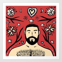 Beard Boy: Feliz Navidad Art Print