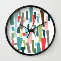 code Wall Clocks featuring color code by frameless
