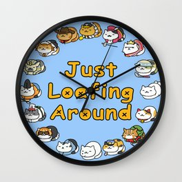 Just Loafing Around Wall Clock