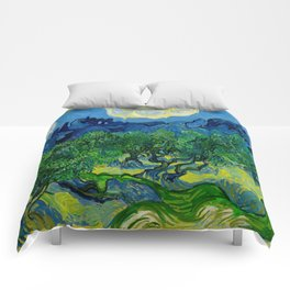 Olive Trees by Vincent Van Gogh Oil Painting Comforters
