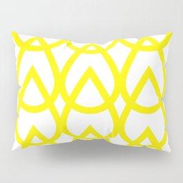 white and yellow drops pattern Pillow Sham