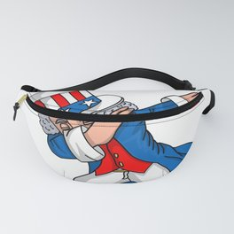4th of July Party design for Kids Boys Men Dabbing Uncle Sam Fanny Pack