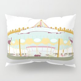 Carousel - white background Pillow Sham
