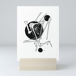Bones. Black Ink hand drawn Illustration. Mini Art Print