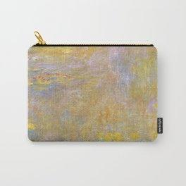 Sea-Roses (Yellow Nirwana) by Claude Monet Carry-All Pouch