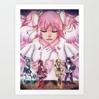 madoka magica Art Prints featuring Puella Magi Madoka Magica by EternalAshley225