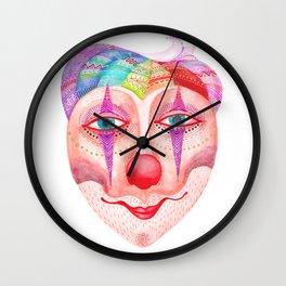 trust the clown mask portrait Wall Clock