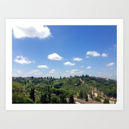Florence - countryside Art Print