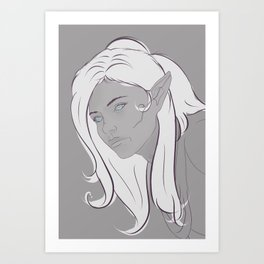 Elf Eyes Art Print