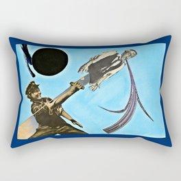 Blue Rain Black Sun Rectangular Pillow