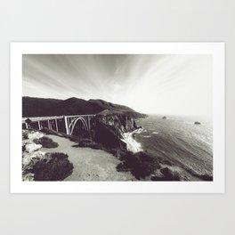 Bixby Bridge Black & White (Big Sur) Art Print