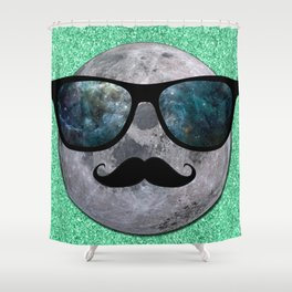 HIPSTER MOON Shower Curtain