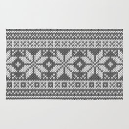 Winter knitted pattern 1 Rug
