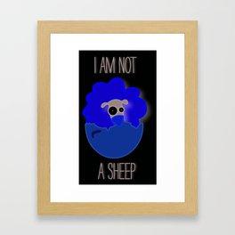 I am not a sheep Framed Art Print