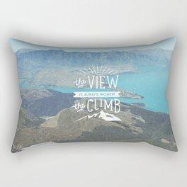 WORTH THE CLIMB Rectangular Pillow