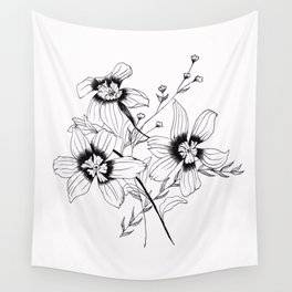 ' FLORAL ' flower drawing Wall Tapestry