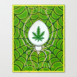 White Widow Canvas Print