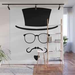 Hipster Mustache Fisherman Wall Mural